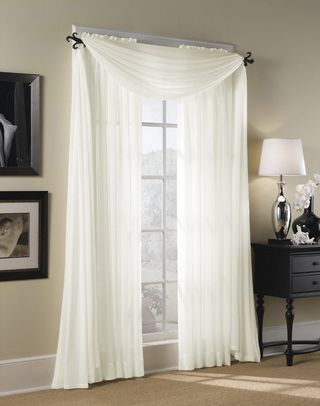 bedroom curtains- hampton sheer voile scarf valance VIUFPSK
