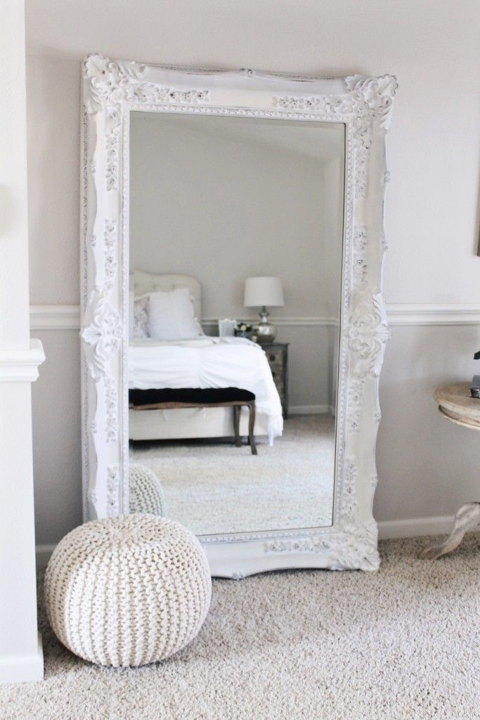 bedroom mirrors ornate floor mirror in an all white bedroom. HVHMOUE