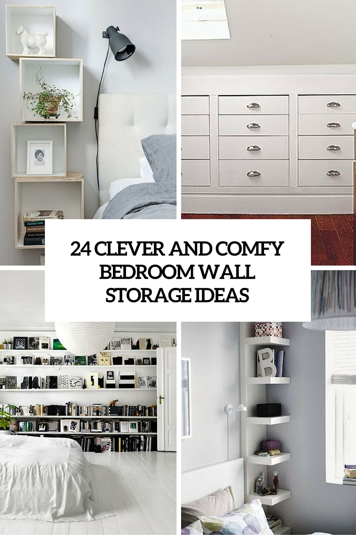 bedroom storage 24 clever and comfy bedroom wall storage ideas JOFHEZO