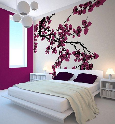 bedroom wall designs 45+ beautiful wall decals ideas VXELBEF