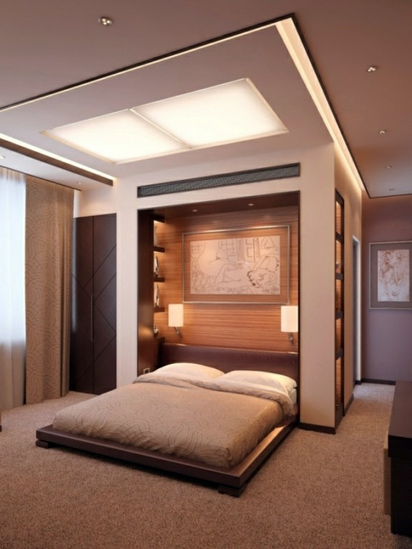 bedroom wall designs integrated ceiling lighting bedroom wall design - wall decoration behind  the UIWUBKF