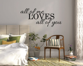 bedroom wall stickers all of me loves all of you wall sticker bedroom wall decal ZHIIOOD