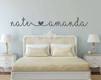 bedroom wall stickers name decal - name stickers - bedroom wall decal - bedroom decor GCDZUWM