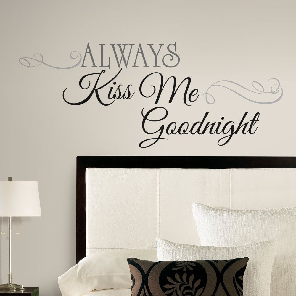 bedroom wall stickers new large always kiss me goodnight wall decals bedroom stickers deco home INKPDOW