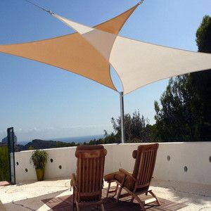 beige triangle 16u0027 sun shade sail awning cover for outdoor patio garden yard TPLUZSM