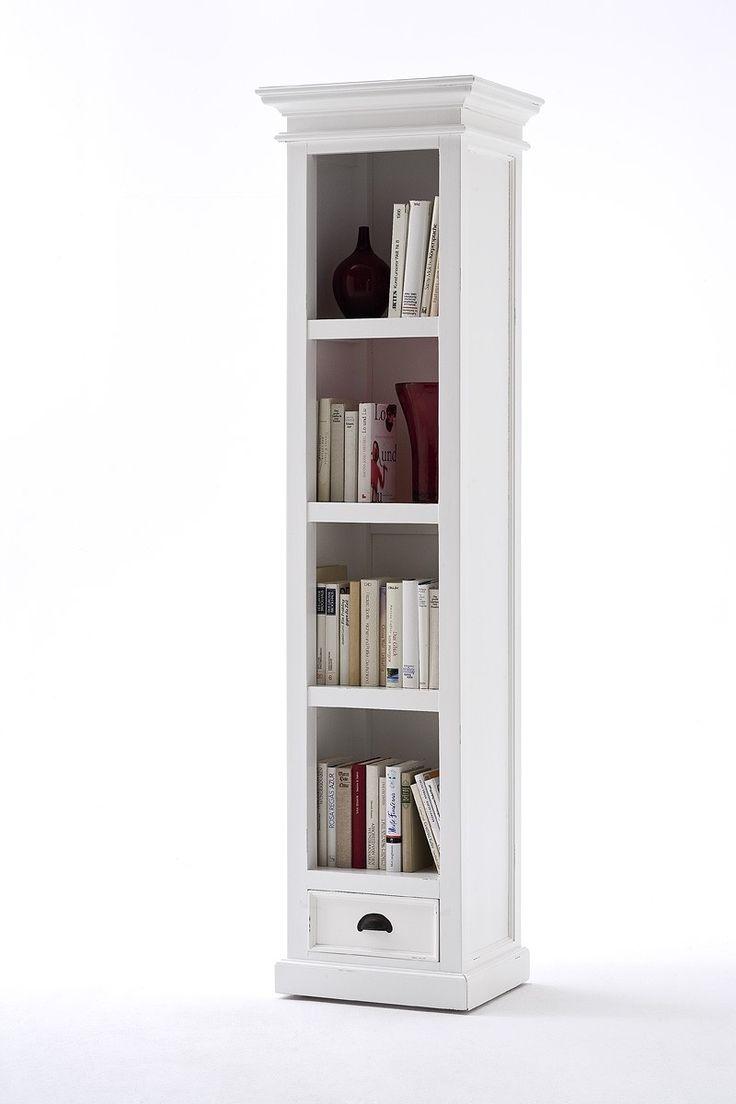 belgravia painted tall narrow bookcase with drawer IBZBITZ