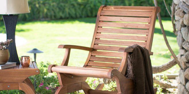belham living avondale oversized outdoor rocking chair - natural   hayneedle ZCIIXPS