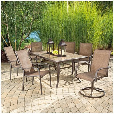 big lots outdoor furniture view wilson u0026 fisher® chesapeake tile top dining table deals at big SJNAPNR