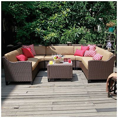 big lots patio furniture wicker ... riviera resin wicker 6 piece modular seating set 99999 set big YRSFCJZ