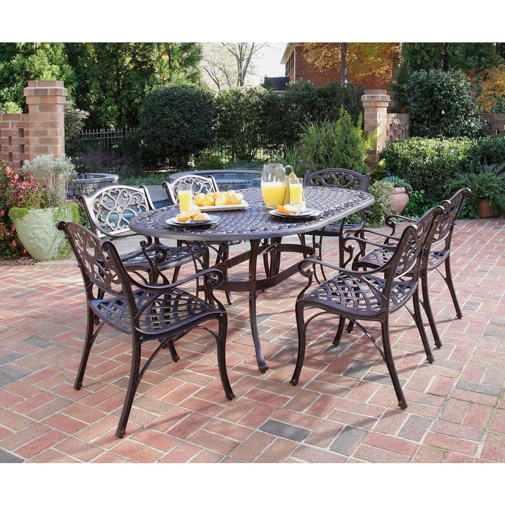 biscayne bronze 7-piece patio dining set WLYIETF