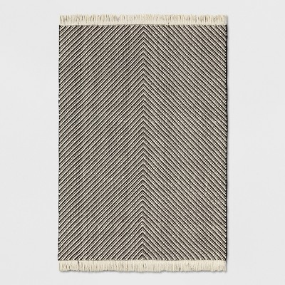 black and white rug black/white chevron area rug - project 62™ BEEGJKS