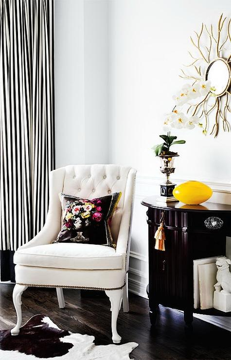 black and white striped curtains BLEEILR