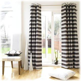 Black And White Striped Curtains Drapes CLWQPRZ