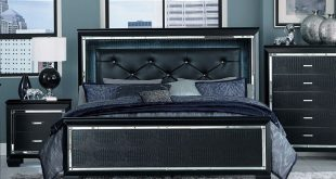 black bedroom sets allura - black bedroom set, bedroom set - adams furniture ... SVODFKL
