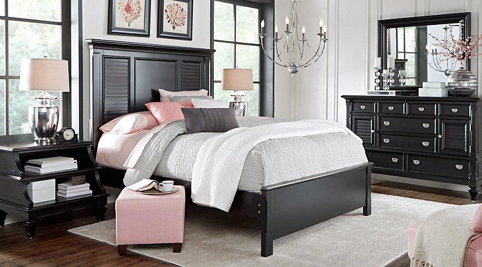 black bedroom sets belmar black 5 pc queen bedroom - queen bedroom sets black TMZKVVY