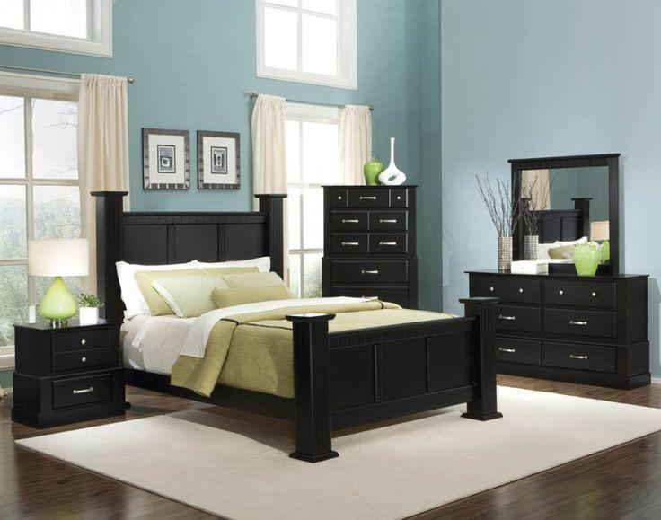 black bedroom sets bold black bedroom furniture with other hues mixture : charming blue black QQEZUGH