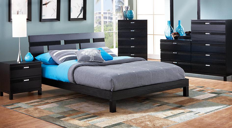 black bedroom sets gardenia black 5 pc queen platform bedroom - queen bedroom sets colors NPVCDCJ