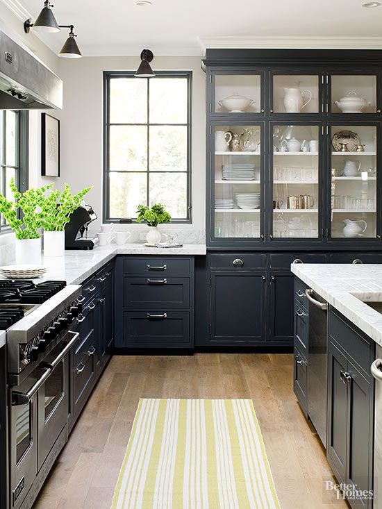 black kitchen cabinets contemporary small kitchens FGWDSBM