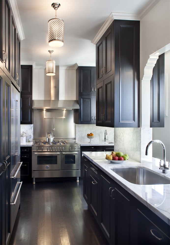 black kitchen cabinets galley kitchen cabinets. OZWIGIB