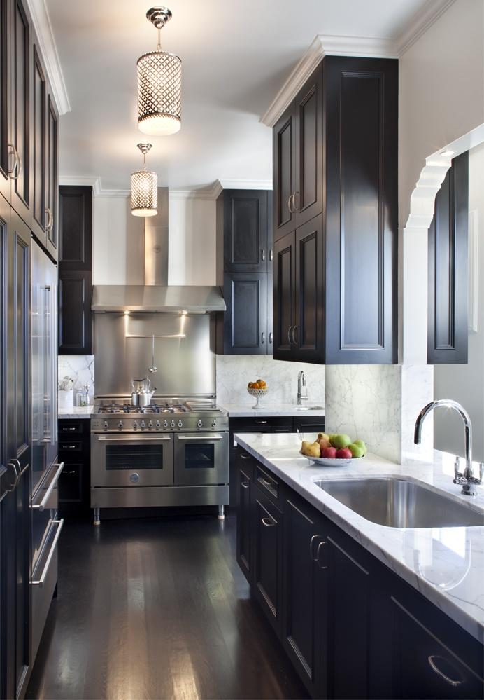 black kitchen cabinets galley kitchen cabinets. OZWIGIB