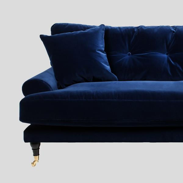 blanca deep blue velvet sofa YXUCTIR