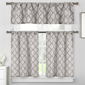blocker 3 piece kitchen curtain set AOGEUDR