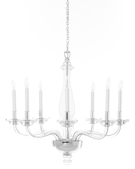 blown glass chandelier TVARNOC