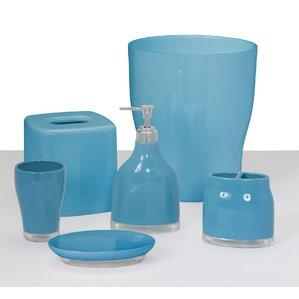 blue bathroom accessories baehr 6 piece bathroom accessory set ZWYNODK