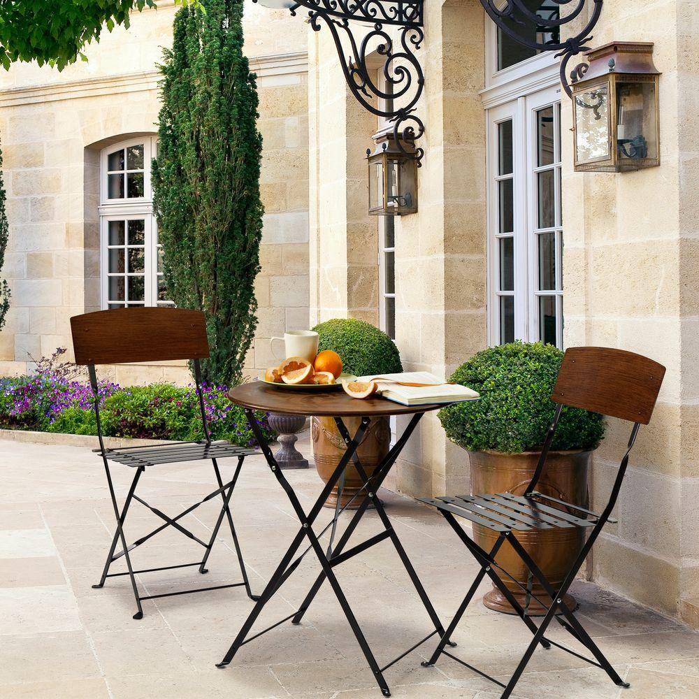 bombay outdoors lucia 3-piece patio bistro set JKEHMGJ