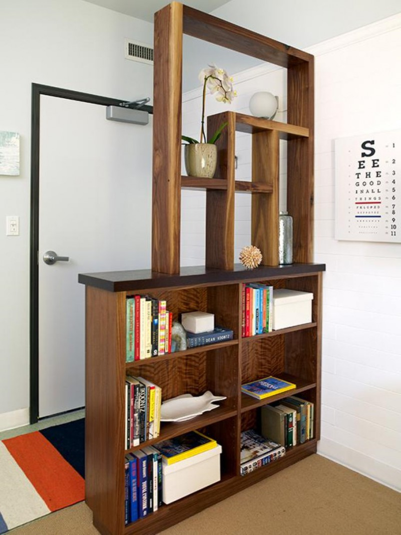 book storage hack #2: bookshelf room divider RIJESXG