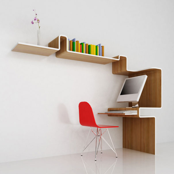 bookshelf design 10. k workstation. u201c OYUZEJM