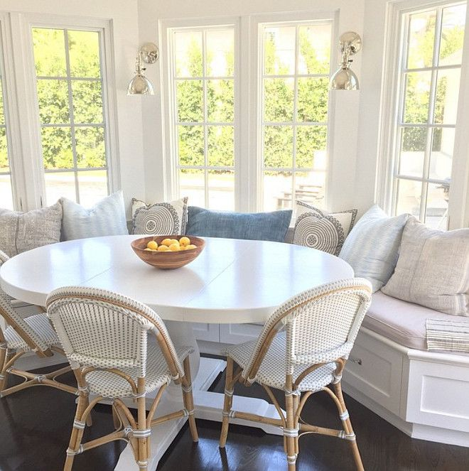 breakfast nook table a white painted wood oval table might work in the breakfast nook. i DSRVUQF