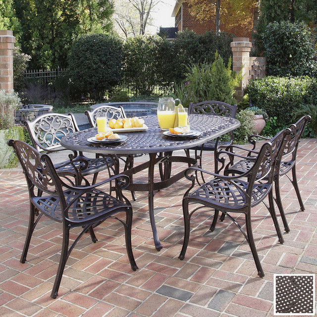 brilliant cast iron patio furniture aluminum versus wrought iron outdoor  patio furniture DWXPUZB