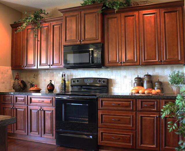 brindleton maple kitchen cabinets traditional DRTGMBL