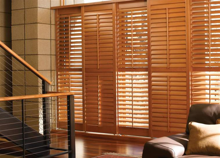 budget blinds natural hardwood shutters. north american wood shutters KIKHXFA
