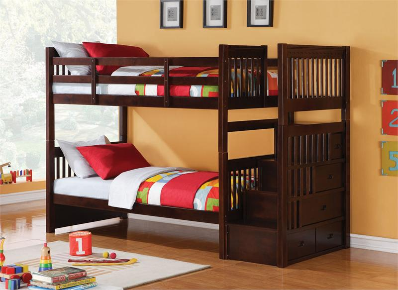 bunk beds for kids astonishing teak wood bunk bed with exotic red and green sheeets also ZSVVKGX