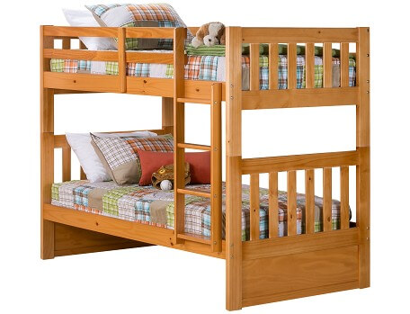 bunk beds ... knollwood collection - honey twin/twin bunk bed DZCQVSQ