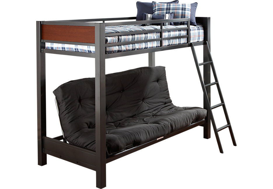 bunk beds louie gray twin/futon loft bed NPMVVLT
