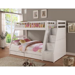 bunk beds pierre twin over full bunk bed with storage YSSKZUE