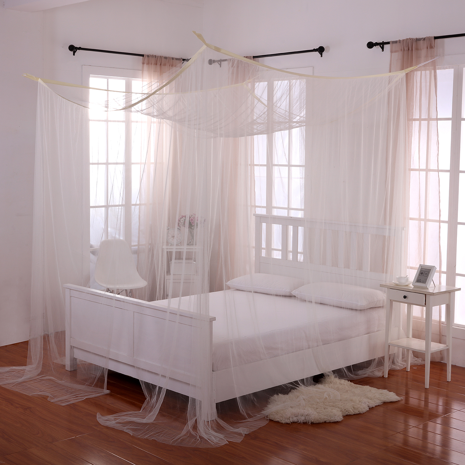 canopy bed curtains casablanca palace 4-post bed sheer panel canopy CUJARDR