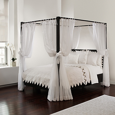 canopy bed curtains sheer bed canopy curtains in white RXRNNOG
