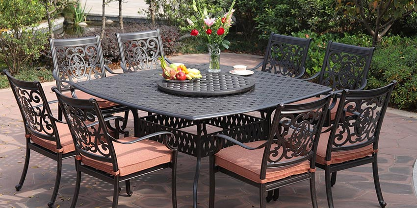 cast aluminum patio furniture set NLCMOLC