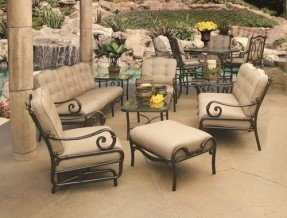 cast aluminum patio furniture sets JGZKVGN