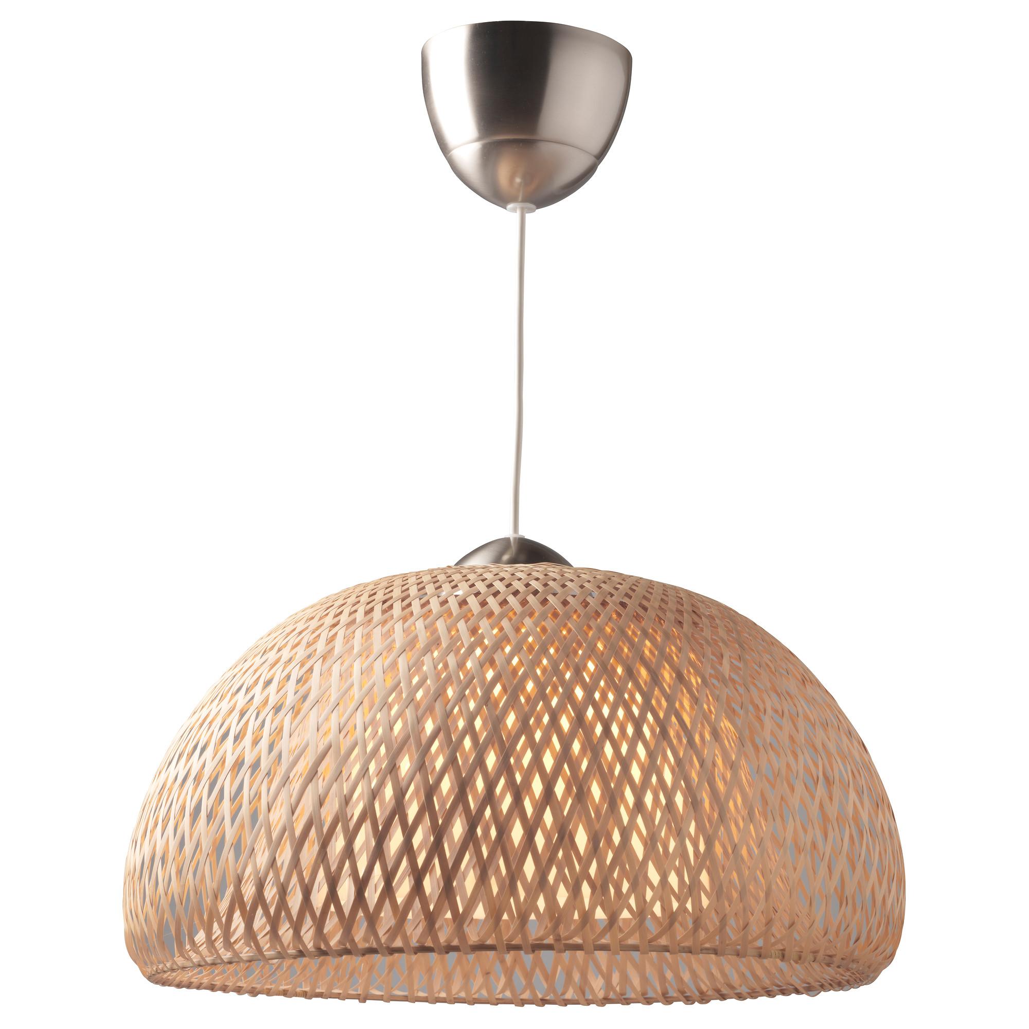 ceiling lamp böja pendant lamp, bamboo rattan max.: 60 w diameter: 17  VQNFNBQ