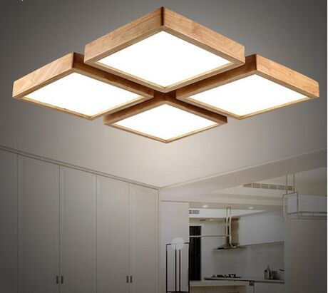 ceiling lamp modern brief wooden led ceiling light square minimalism ceiling-mounted  luminaire japanese style HHYXDTU