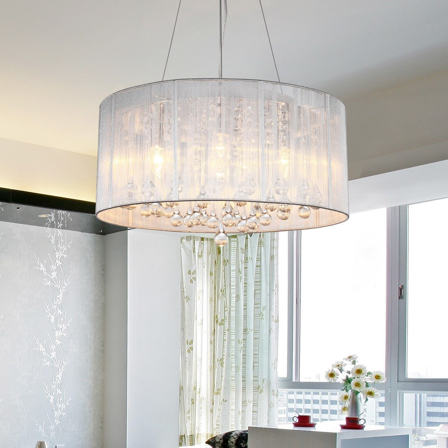 How to choose a chandelier lampshade goodworksfurniture chandelier lamp shades inspiring chandelier light shades plastic casing with dependent crystal ball ojbnkwg aloadofball Image collections