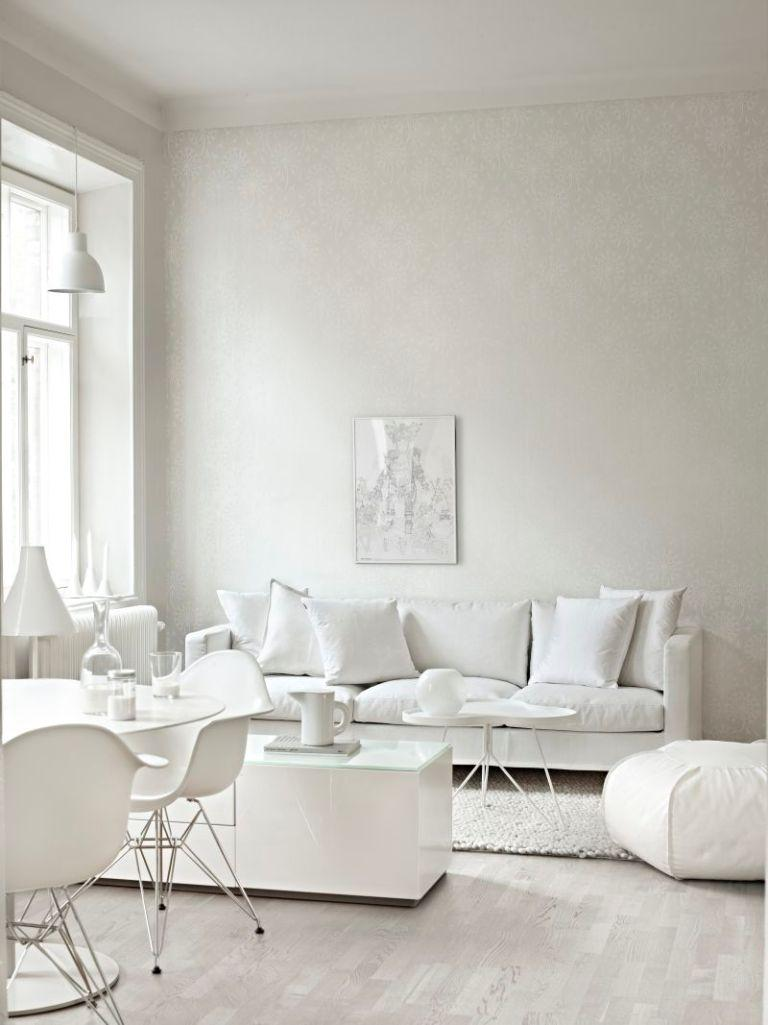 charming all white living room RQWMABE