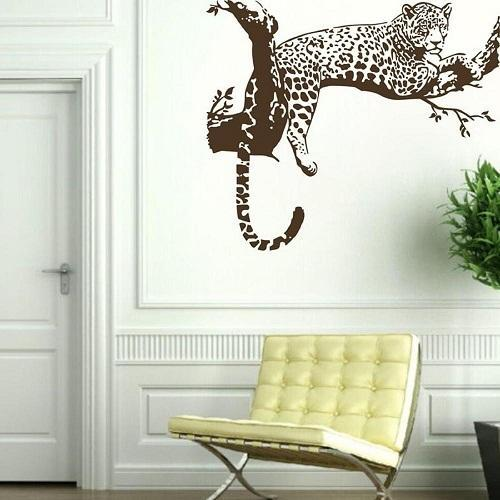 cheetah wall painting LCALMNZ
