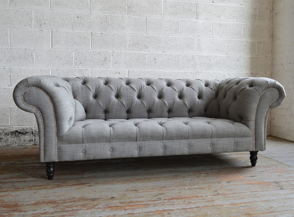 chesterfield furniture handmade grey romford wool chesterfield sofa JEBIRPV