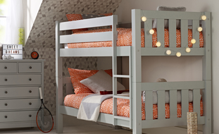 childrens bunk beds jubilee bunk bed in soft grey ZSJUVKQ
